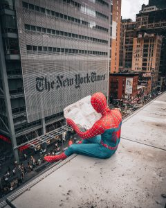 spiderman, news york,journal, new york times