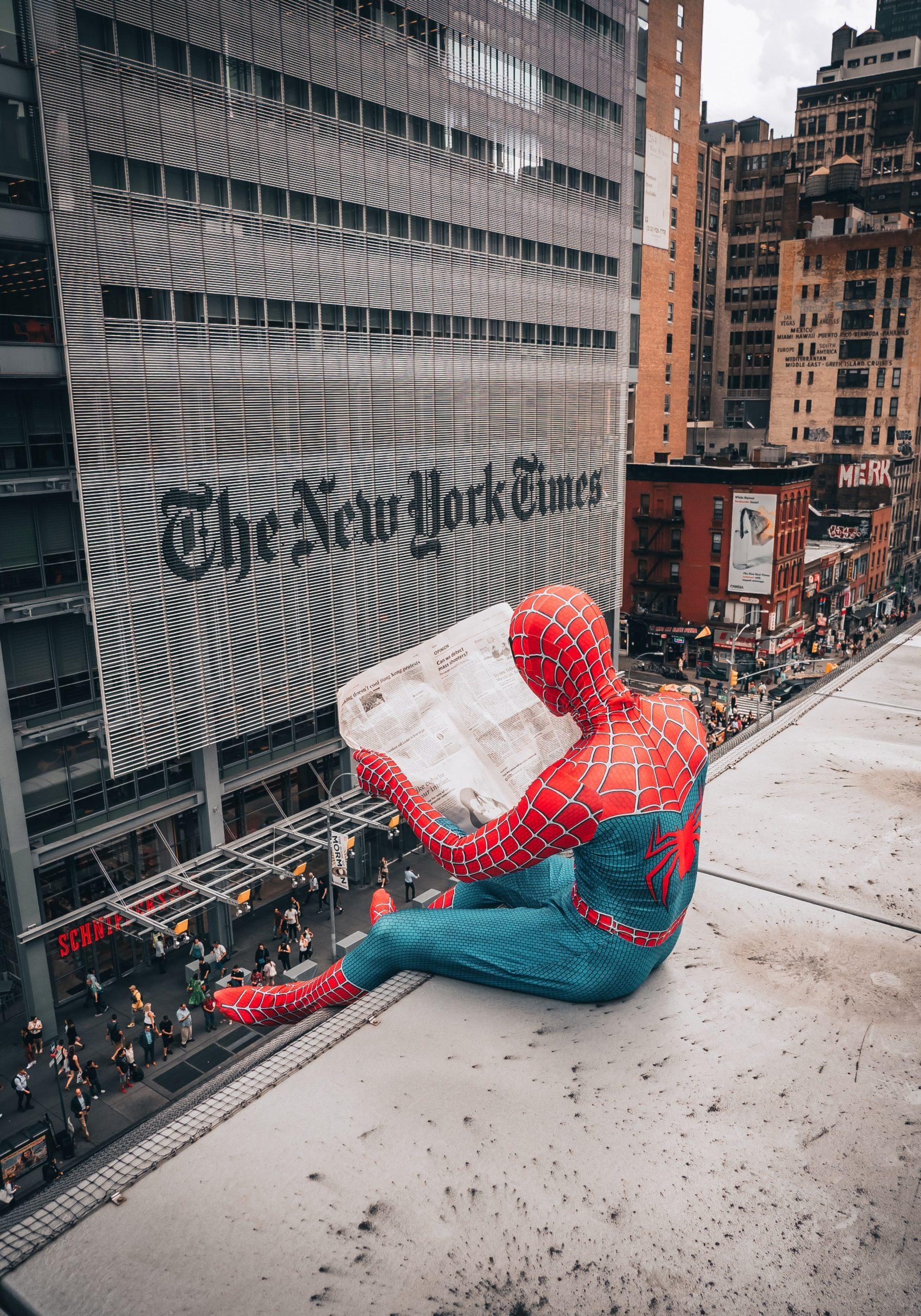 spiderman, news york,journal, new york times